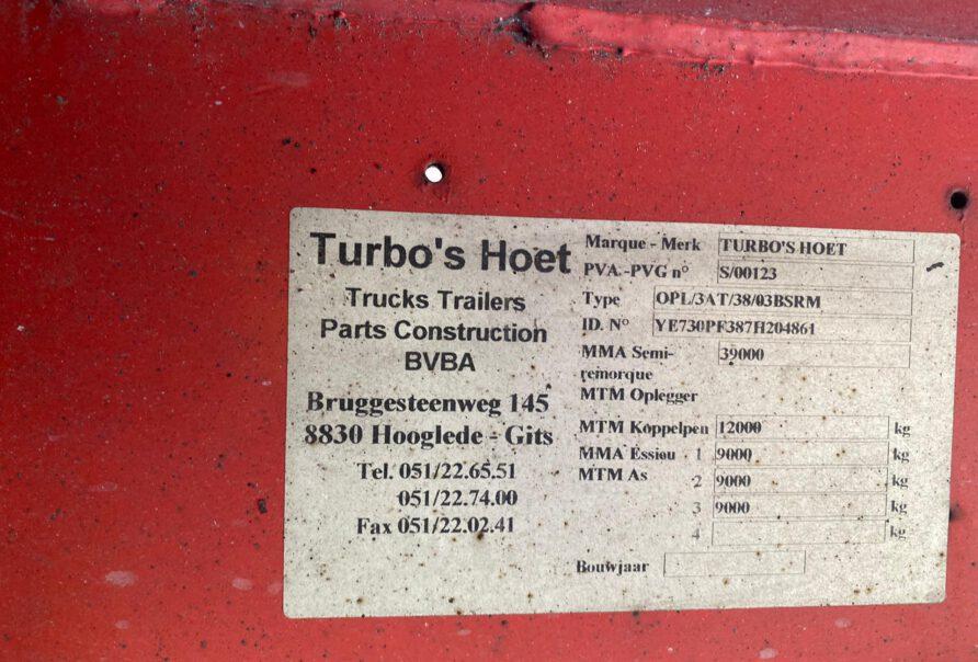 TURBO'S HOET REFRIGERATED TRAILER - DIESEL / ELECTRIC - 2007 - 3 ASSEN/AXLES